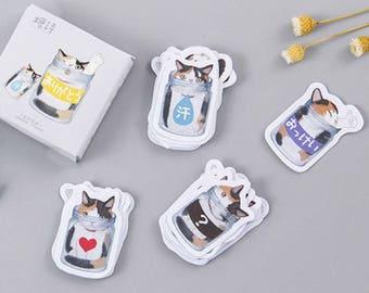 Kittens in Jars Flake Stickers (45 pcs) // Craft Materials // Planners // Travel Journals // Scrapbooking Essentials