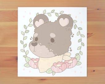 Forest Friends - Mr Bear Print