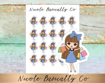 Jade Dolls- Shopping- Character Planner Stickers