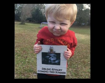 Sibling Rivalry Coming - Funny Pregnancy Announcement clip frame. We're expecting twins/triplets/baby surprise gift pregnant ultrasound