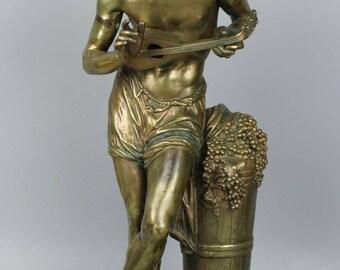 """Francisque Joseph Duret (French, 1804-1865) Bronze """"L'Impovisateur"""""""