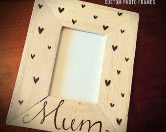 Mum photo frame, mum gift, Mother's Day gift, mum frame, custom photo frame, personalised photo frame, mimi frame, custom mum gift, mam, mom