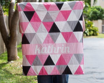 Girly Triangle Name Quilt