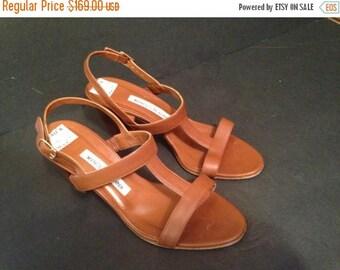 Manolo Blahnik Vintage Brown leather women sandals