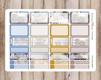 Everyday Magic Small Boxes   Stickers for your Erin Condren, Happy Planner, Kikki K, Filofax and more