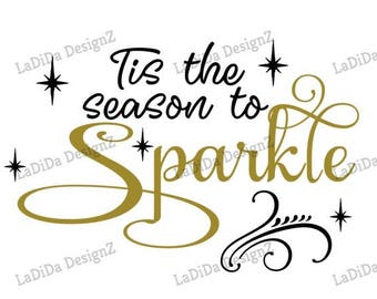 Tis The Season To Sparkle Sublimation Transfers Fall Christmas