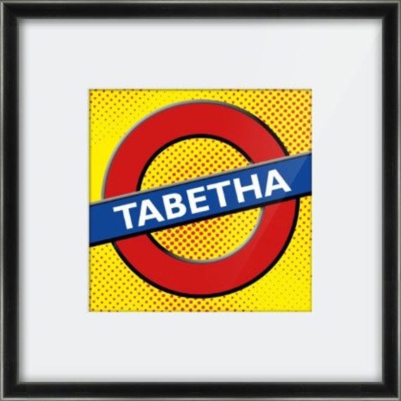 Popart style London underground style print.  Printed, mounted & frame or printed onto canvas.