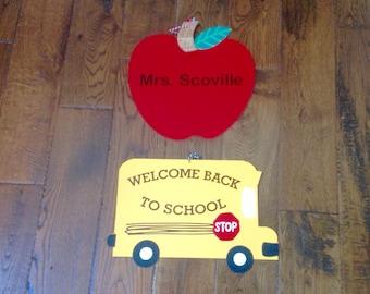 Customized Door Hanger-Teacher-School & Custom door hanger | Etsy Pezcame.Com