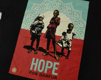 Obey Hope for Darfur Tshirt Size Xtra Large