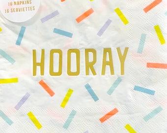 Paper Napkins // Meri Meri Confetti Hooray Large Napkins