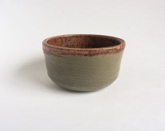ceramic bowl - grey and plum speckled