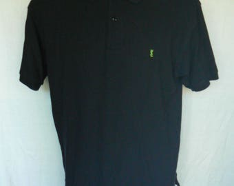 YSL Yves Saint Laurent Pour Homme Mens Black Polo Golf Shirt Size XL Used Condition Worldwide Shipping