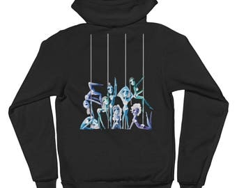 Pole Dance Zip Up Fleece Hoodie || Pole Sisters
