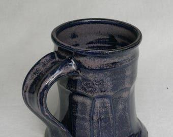 Purple and blue handmade ceramic 10oz coffee mug