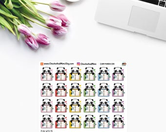 Amanda The Panda ~ PLAN With Me ~ Planner Stickers CAM PANDA 041