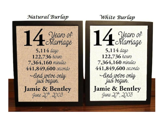 Gift Ideas For 14th Wedding Anniversary: 14th Anniversary 14 Year Anniversary 14th Anniversary Gift