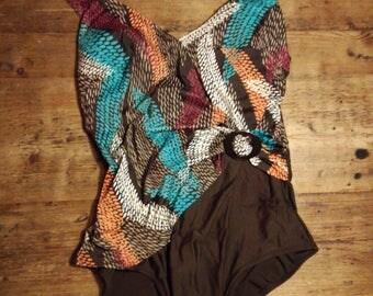 Vintage 80s 70s bathing suit vintage swimwear
