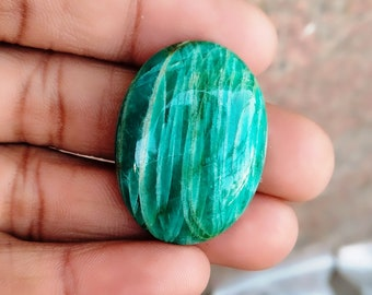 Warm sell 53.5ct Amazonite Natural Gemstone Super Quality AAA+++  Cabochon , Smooth, Oval Shape, 32x23x8mm Size, AM230