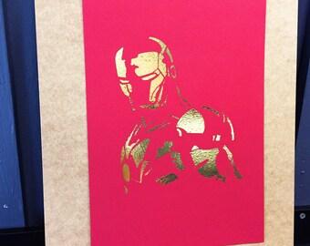 Ironman A4 foil print
