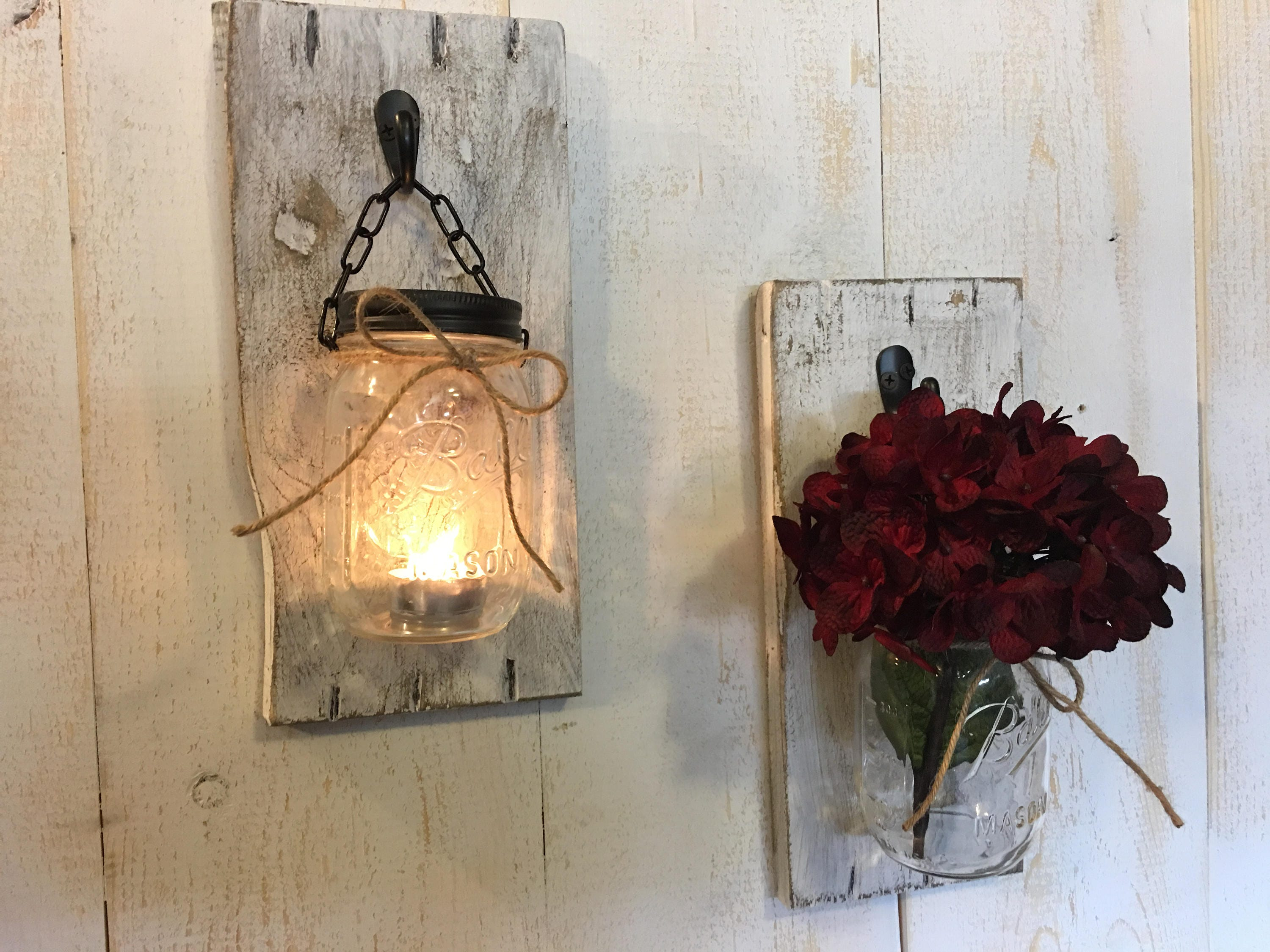 ... Hanging candle sconces. 1