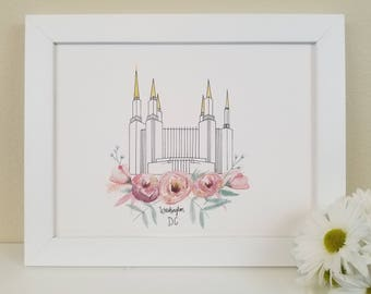 LDS Washington D.C. Temple Print
