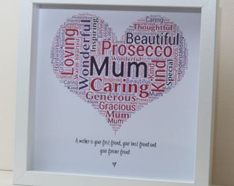 Mother's Day - Personalised Word Jumble Heart