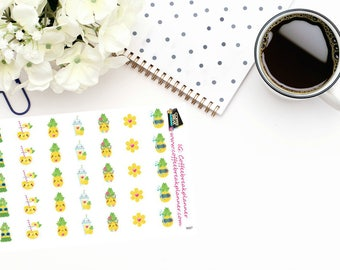 Planner Stickers |Cute Pineapple Stickers|Pineapple Stickers|Decorative Stickers|For use in a wide variety of planners and journals|S027
