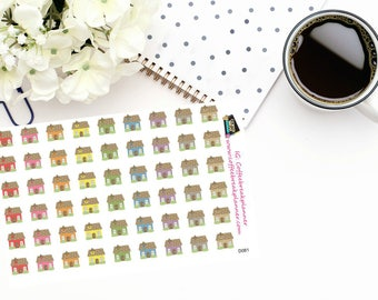 Planner Stickers |House Stickers|Home Stickers|Neighborhood Stickers|Grandma Weekend Stickers|Parent Weekend Stickers|D081