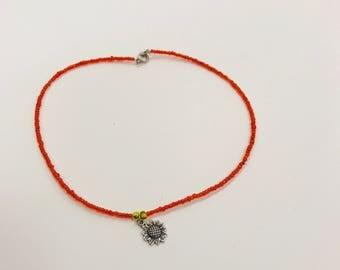 Sunflower Choker Necklace