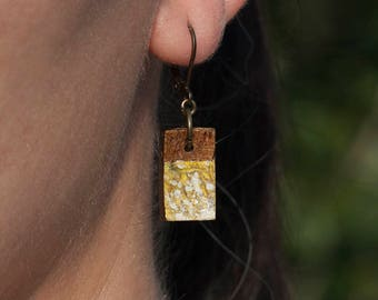 Yellow coconut earrings