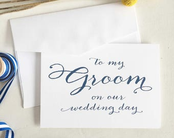 To My Groom Card, From Bride To Groom Card, Husband On Wedding Day, Gift For Groom, To Be Gift, For Groom From Bride, To Groom Wedding Card