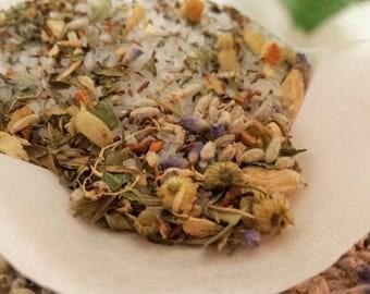 Herbal Bath Tea - Cold Flu Blend Herbal Bath - Bath Salts, Bath Soak, Herbal Steam, Organic Skin Care, Herbal Bath Salts, Bath Tea Soaks