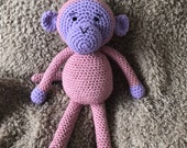 RESERVED FOR KERRY - Girly monkey with dress and bow