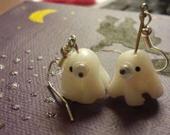 Original and adorable Stud Earrings halloween ghosts with eyeglasses