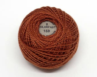 Valdani Pearl Cotton Thread Size 8 Solid: #159 Rust