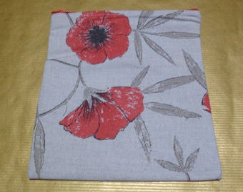 Poppies - Poppy Medium Poppins Waterproof Lined Zip Pouch - Sandwich bag - Eco - Snack Bag - Bikini Bag - Lunch Bag - Tool Bag - Zero Waste