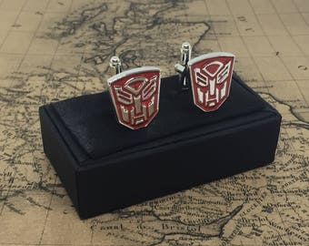 Stunning Cufflinks TRANSFORMERS Autobots MARVEL Thank You Dad Gents Gift Boxed Cuff Links Perfect Wedding Birthday Fathers Day Christmas
