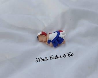 "Baby ""France"" Polymer Clay figurine"