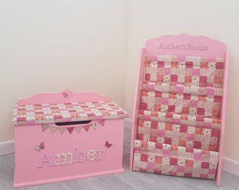 Personalised book case / standard size / children's / sling bookcase / baby / nursery / kids / child / book storage / bookshelf / shelf