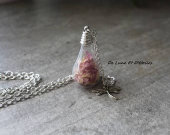 Pink drop necklace
