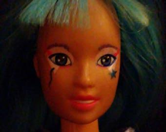 "Vintage 1980s Hasbro JEM and the Holograms ""AJA"" Doll!!!"