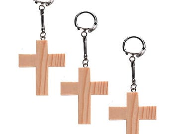 """2.4"""" Set of 3 Blank Unfinished Wooden Crosses"""