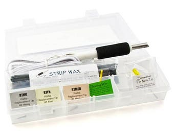110 Volt Electric Kistka Starter Kit With 3 Tips, 1 Beeswax, Cleaning Wire and Storage Box