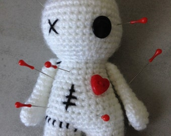 Quilted needle holder pins Voodoo doll original gift and kawaii for a seamstress