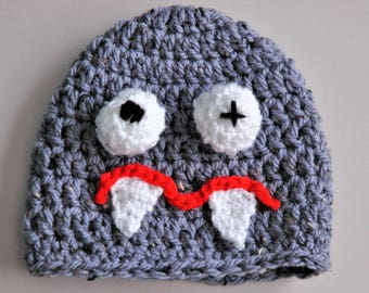 Crocheted Baby, childs monster hat, crocheted