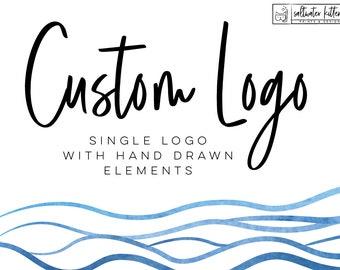 Custom Logo Design - Hand Drawn Logo - Custom Branding Package - Brand logo design - Professional logo design - Logo design service