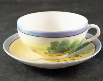 Made in Japan Hand Painted Cup and Saucer