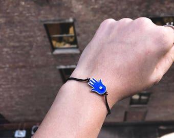 Hamsa Symbol Colorful Rope Bracelet