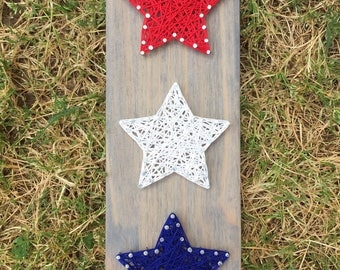 MADE TO ORDER Patriotic Stars String Art Board