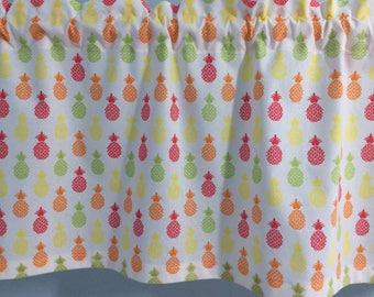 Pineapple Valance-Pineapple Curtains-Kitchen Curtains-Bedroom Curtains-Bathroom Curtains-Laundry Room Curtains